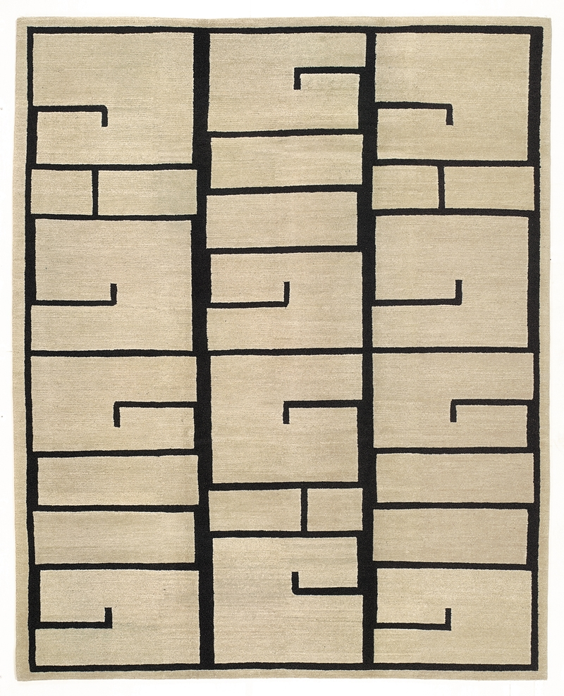 Tufenkian Lama Shanghai Inkline- Calligraphy Area Rug Clearance| Size| 8' X 10' - 81613x4