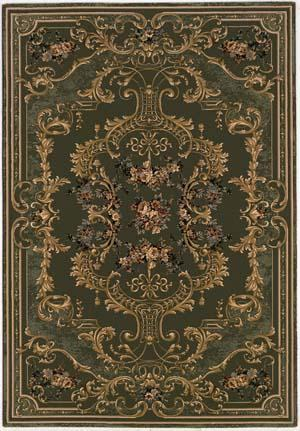 Rugstudio Famous Maker 39087 Deep Sage Area Rug Last Chance| Size| 2' X 3' 7'' - 39087x1