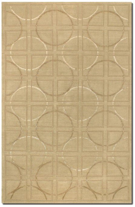 Couristan Impressions Telescope Beige - Ivory Area Rug Clearance| Size| 4 x 6 - 172942x2