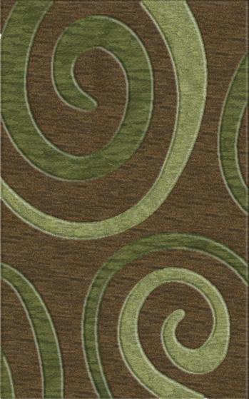 Rugstudio Riley DL17 Fudge-Fern-Aloe Area Rug