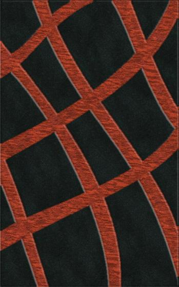 Rugstudio Riley DL24 Black-Rich Red Area Rug| Size| Returnable Sample Swatch - 37562x28