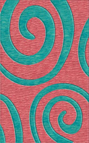 Rugstudio Riley DL17 Bubblishous-Peacock Area Rug| Size| 6' Round - 37527x9