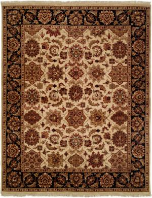 Kalaty Lateef Lt-805 Ivory-Black Area Rug Clearance| Size| 6' Square - 13596x16