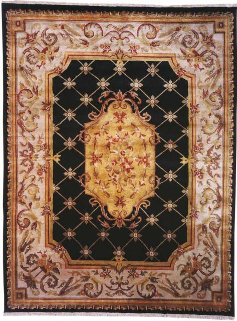 Kalaty Le Palais Ps-540 Black-Ivory Area Rug Clearance