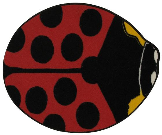 Fun Rugs Fun Time Shape Red Lady Bug FTS-073 Multi Area Rug
