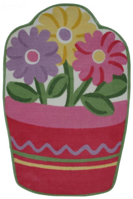 Fun Rugs Fun Time Shape Flower Pot FTS-135 Multi Area Rug