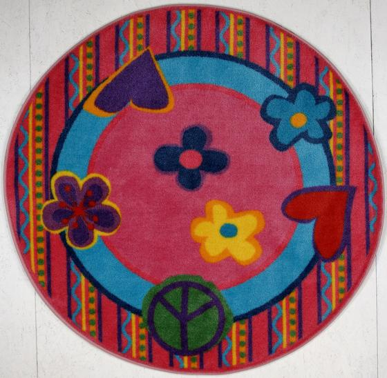 Fun Rugs Fun Time Shape Peace Out FTS-180 Multi Area Rug - 42715