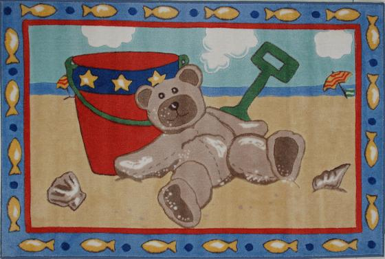 Fun Rugs Jade Reynolds Beach Bear JR-TSC-173 Multi Area Rug - 42728