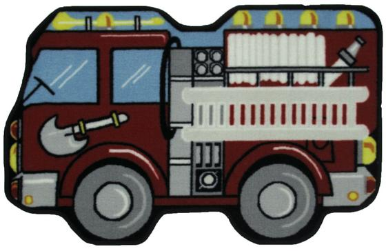 Fun Rugs Fun Time Shape Fire Engine QLTS-116 Multi Area Rug - 42719