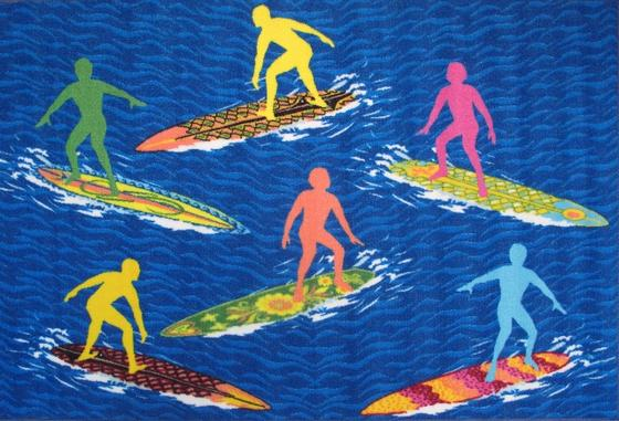 Fun Rugs Surf Time Surfs R Us ST-23 Multi Area Rug