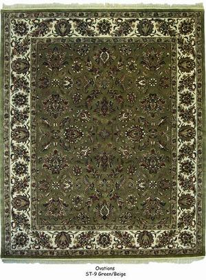 ORG Ovations St-9 Green - Beige Area Rug Last Chance| Size| 3' 6'' X 5' 6'' - 136990x1