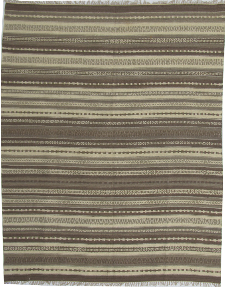 ORG Dhurrie Flatweave D-027 Medium Brown Area Rug Last Chance| Size| 2' X 3' - 2126