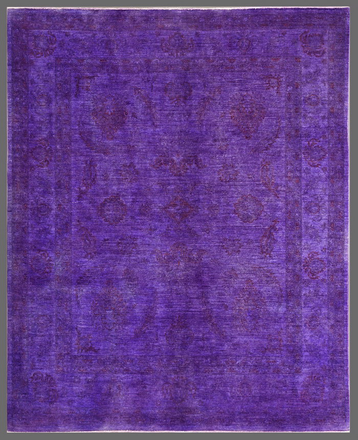 Rugstudio Overdyed 449446-616 Purple Area Rug| Size| 6' 6'' x 8' 1'' - 72705x1