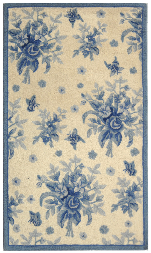 Safavieh Chelsea HK250A Ivory - Blue Area Rug Clearance| Size| 2' 6'' X 4' - 49936X4