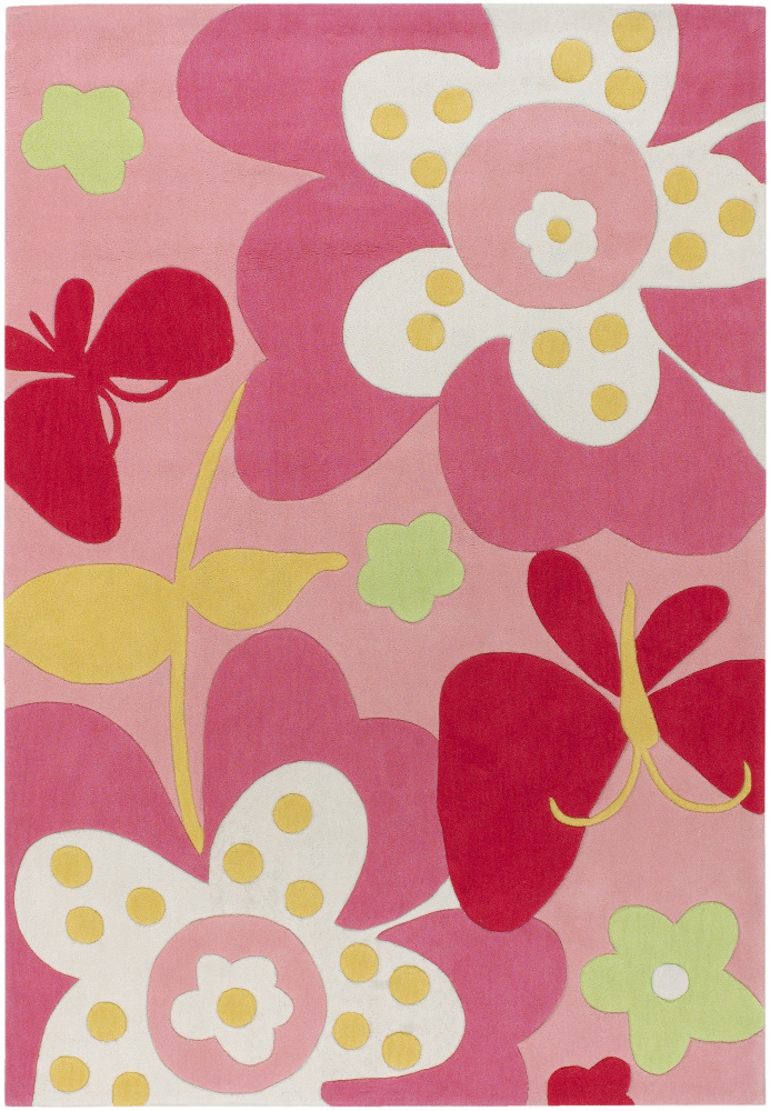 Surya Chic CHI-1007 Pink Area Rug| Size| 18'' Returnable Sample Swatch - 27945x6