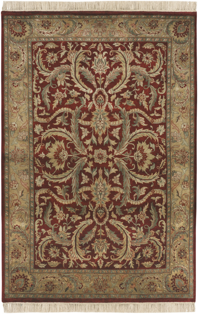 Surya Taj Mahal Tj-59 Red - Gold Area Rug Clearance| Size| 8' Round - 136911x6