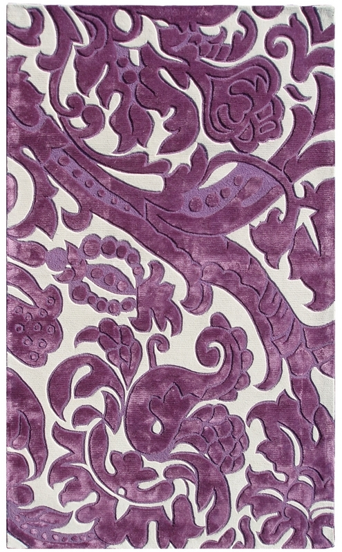 The Rug Market America Rexford Leoni 44311 Lavender-ivory Area Rug| Size| 5X8 - 53145X1