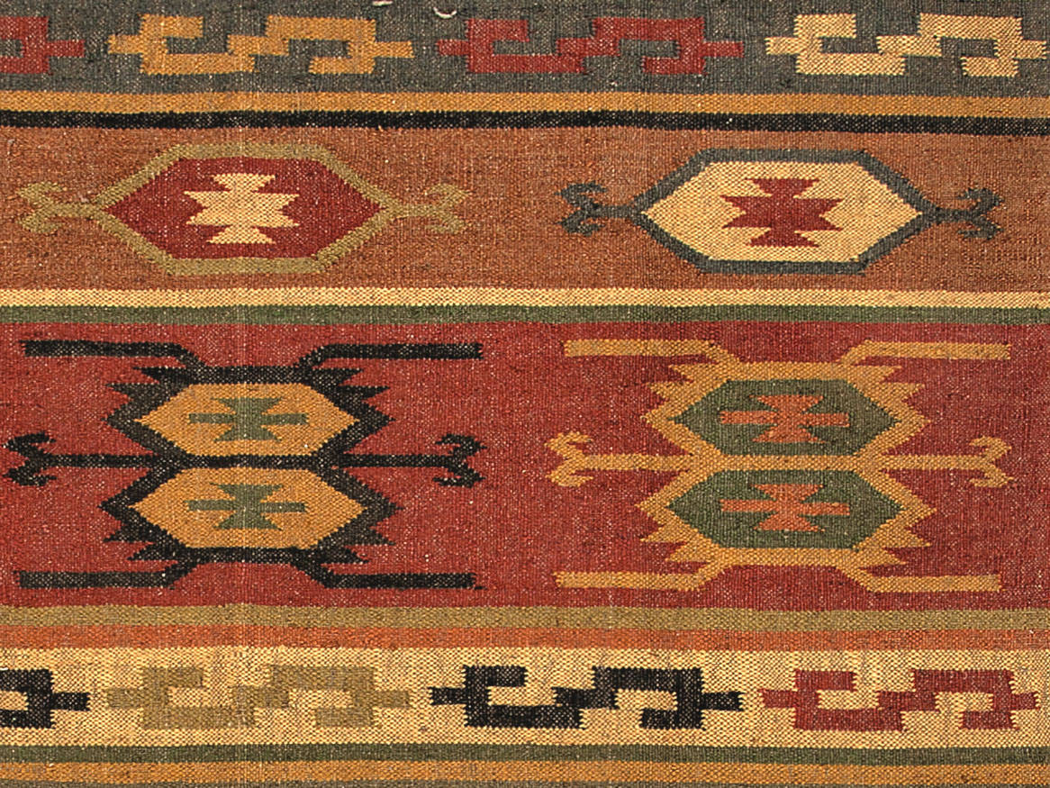 Addison And Banks Flat Weave Abr0036 Deep Rust Area Rug - 81813