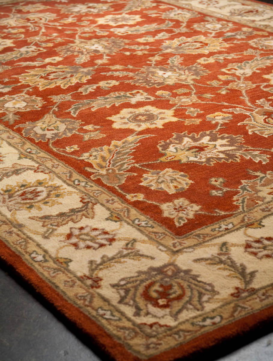 Addison And Banks Hand Tufted Abr0523 Red Oxide-Sand Area Rug - 82227