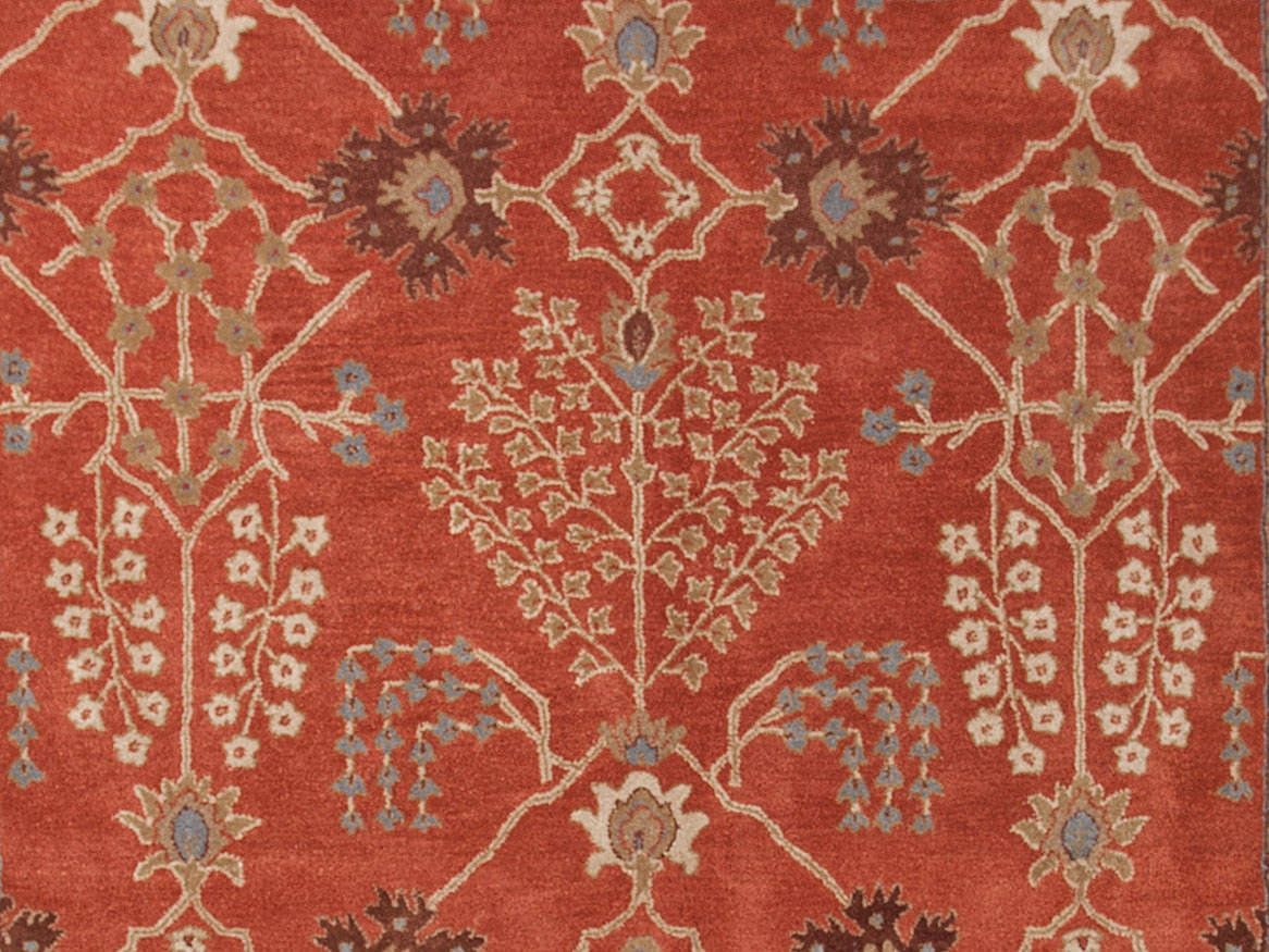 Addison And Banks Hand Tufted Abr0575 Orange Rust-Gold Brown Area Rug - 82261
