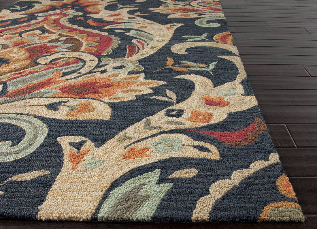 Addison And Banks Hand Hooked Abr0147 Navy Area Rug Clearance - 82125