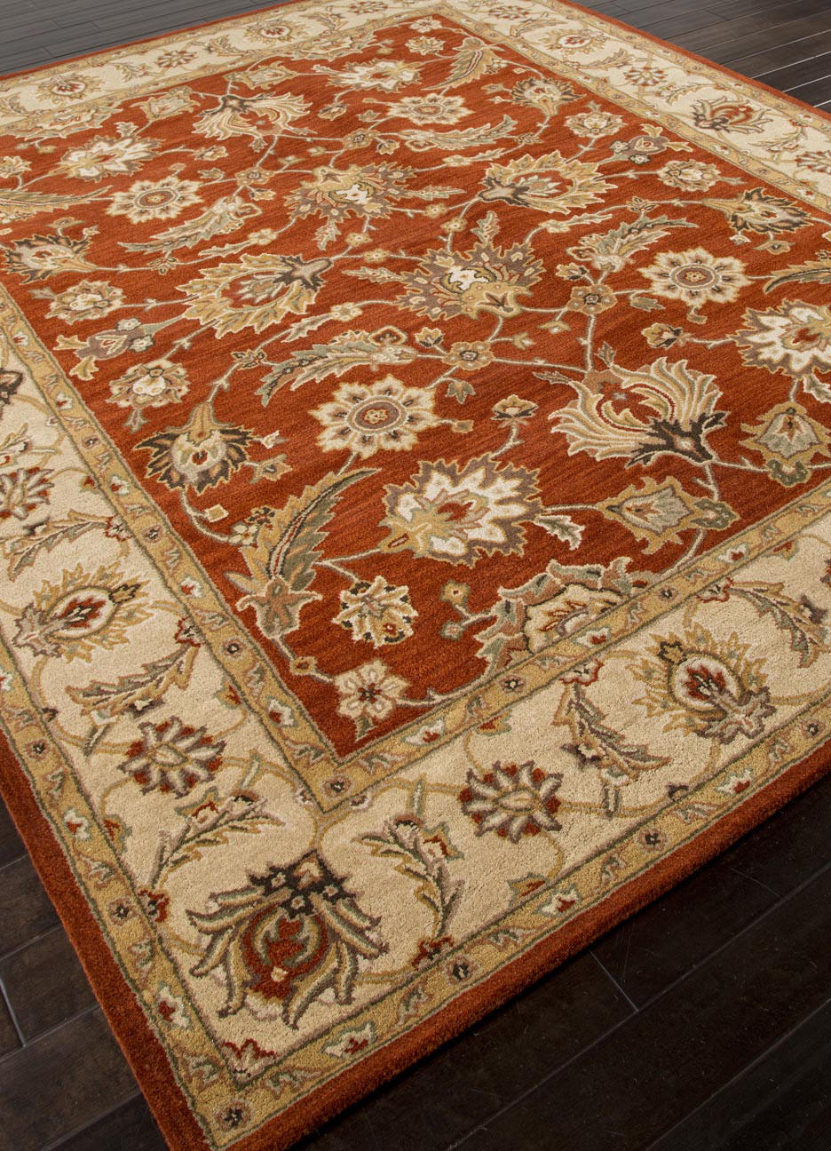 Addison And Banks Hand Tufted Abr0523 Red Oxide Sand Rug