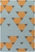 Surya Hilda Brigitte Orange - Aqua - Gray