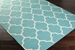 Surya Vogue Claire Teal-White Area Rug Clearance - 112403