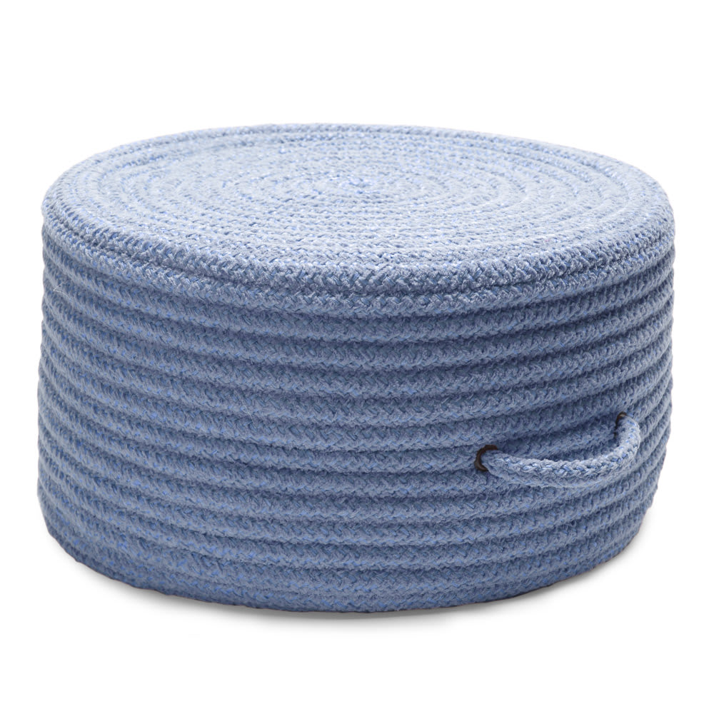 Colonial Mills Solid Chenille Pouf U870 Blue Ice