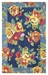 Company C Cabbage Roses 10302 Navy Area Rug - 170453