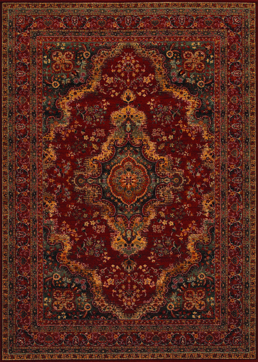 Couristan Old World Classics Kerman Med Burgundy