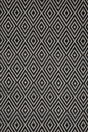 Dash and Albert Diamond 56187 Black-Ivory Area Rug - 56187