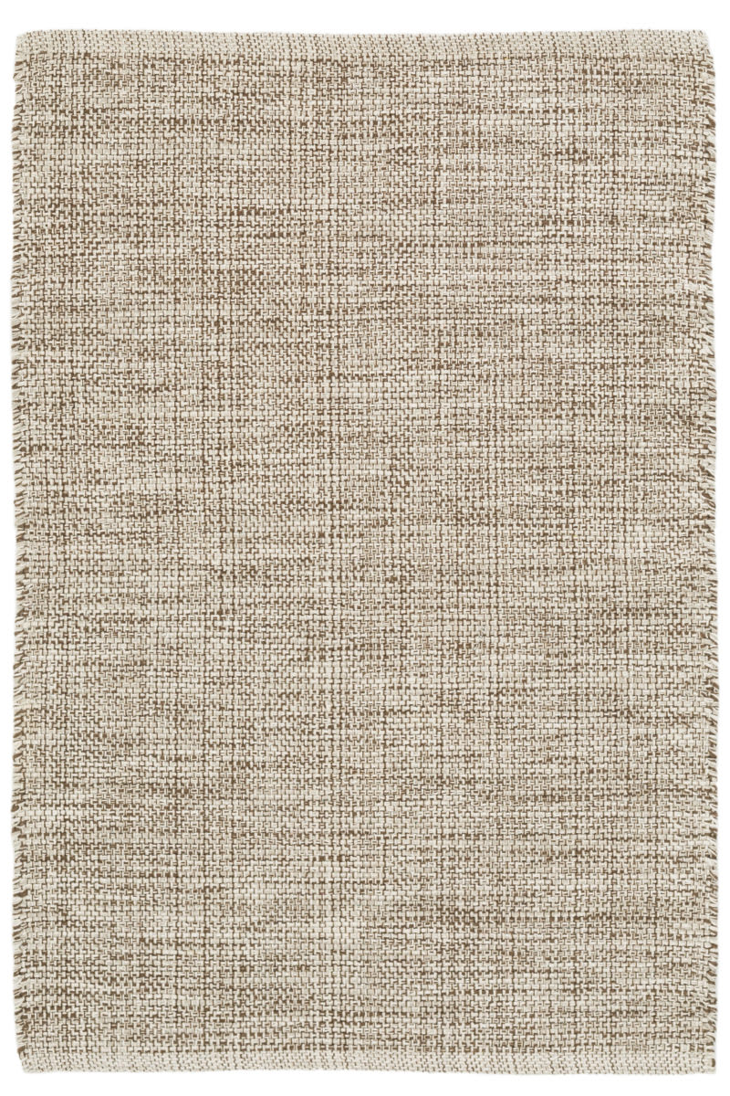 Dash And Albert Marled Cotton Brown Area Rug - 158944