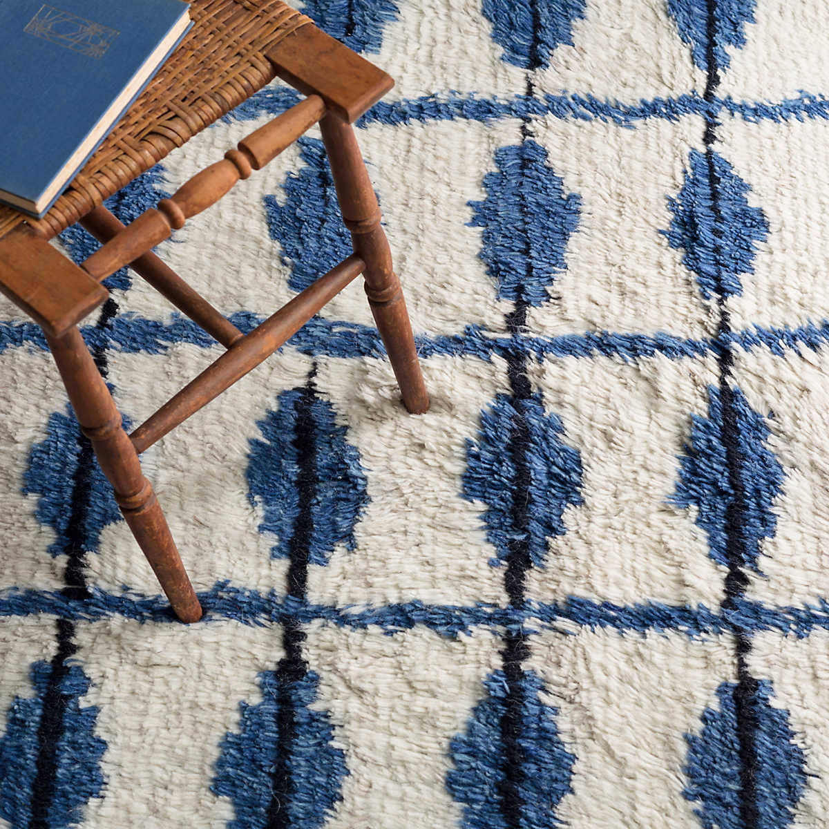 Dash And Albert Noma Woven Indigo Area Rug - 175923