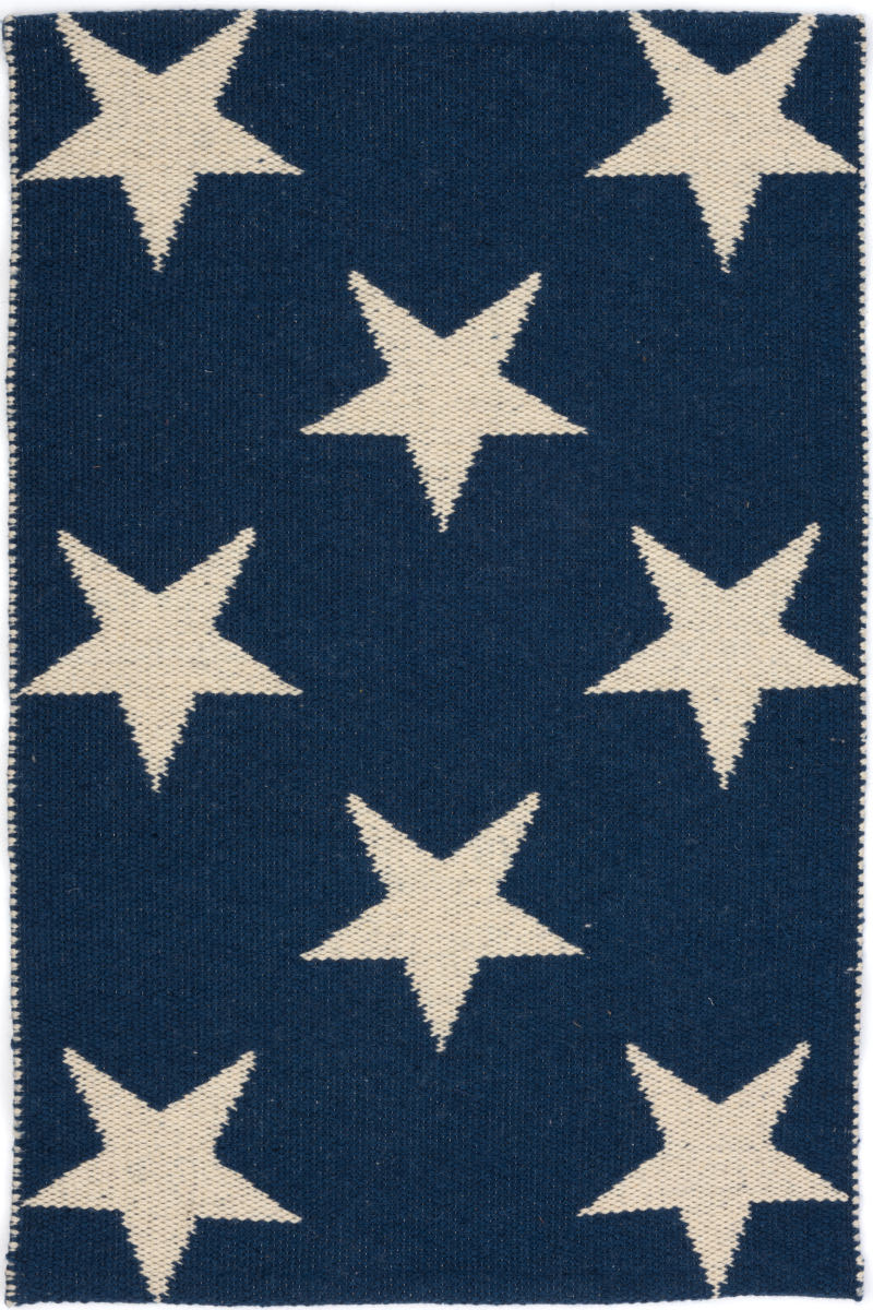 Dash And Albert Star Rdb342 Navy - Ivory Area Rug - 129973