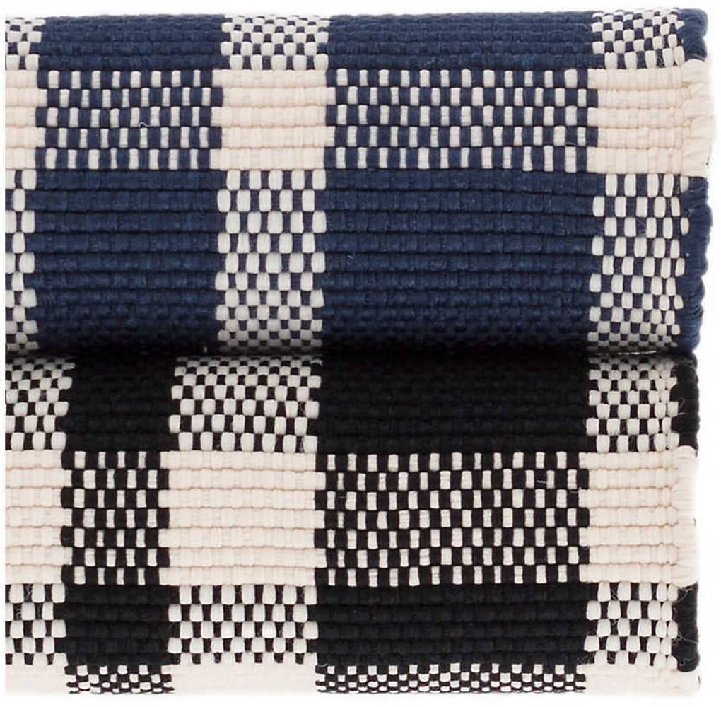 Dash And Albert Tattersall Indoor - Outdoor Black Area Rug - 199461