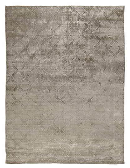 Exquisite Rugs Smooch Carved Hand Woven Dark Gray Area Rug - 191093