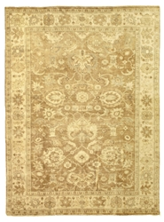 Exquisite Rugs Oushak Hand Knotted Gray - Brown 190905 Area Rug