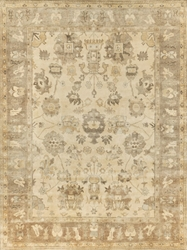 Exquisite Rugs Oushak Hand Knotted Ivory - Gray Area Rug
