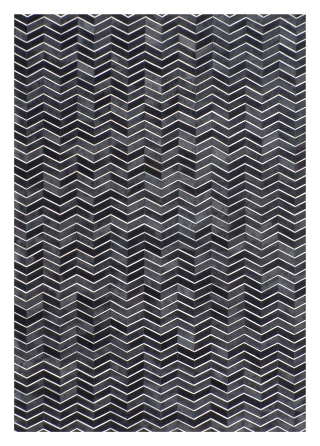 Exquisite Rugs Natural Hair on Hide Black - Gray
