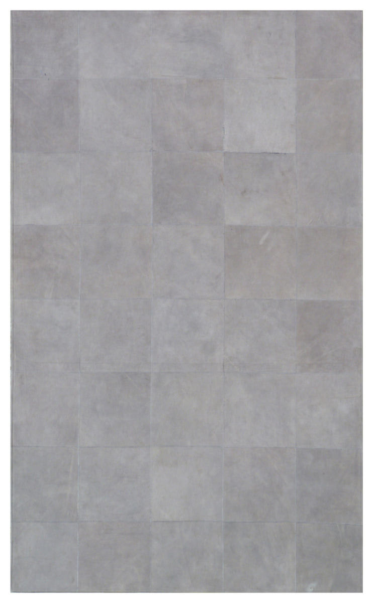 Exquisite Rugs Leather Suede Hair-Off Hide Gray