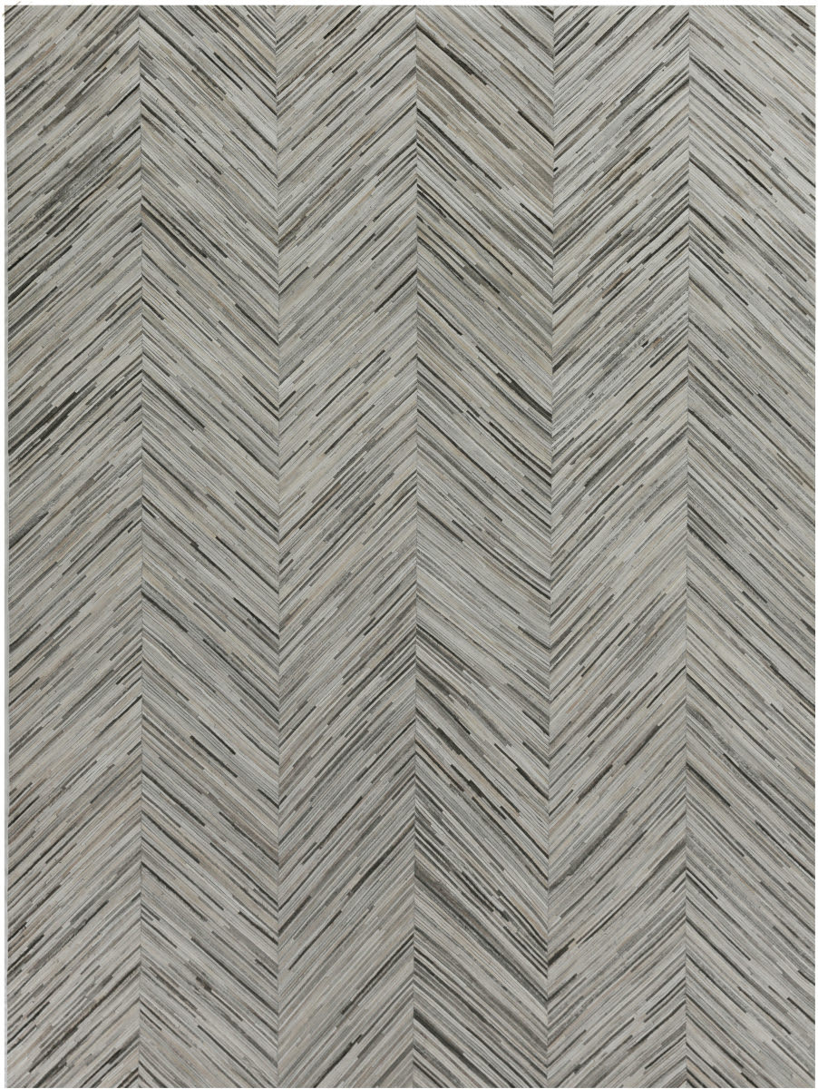 Exquisite Rugs Natural Hair on Hide Gray - Multi