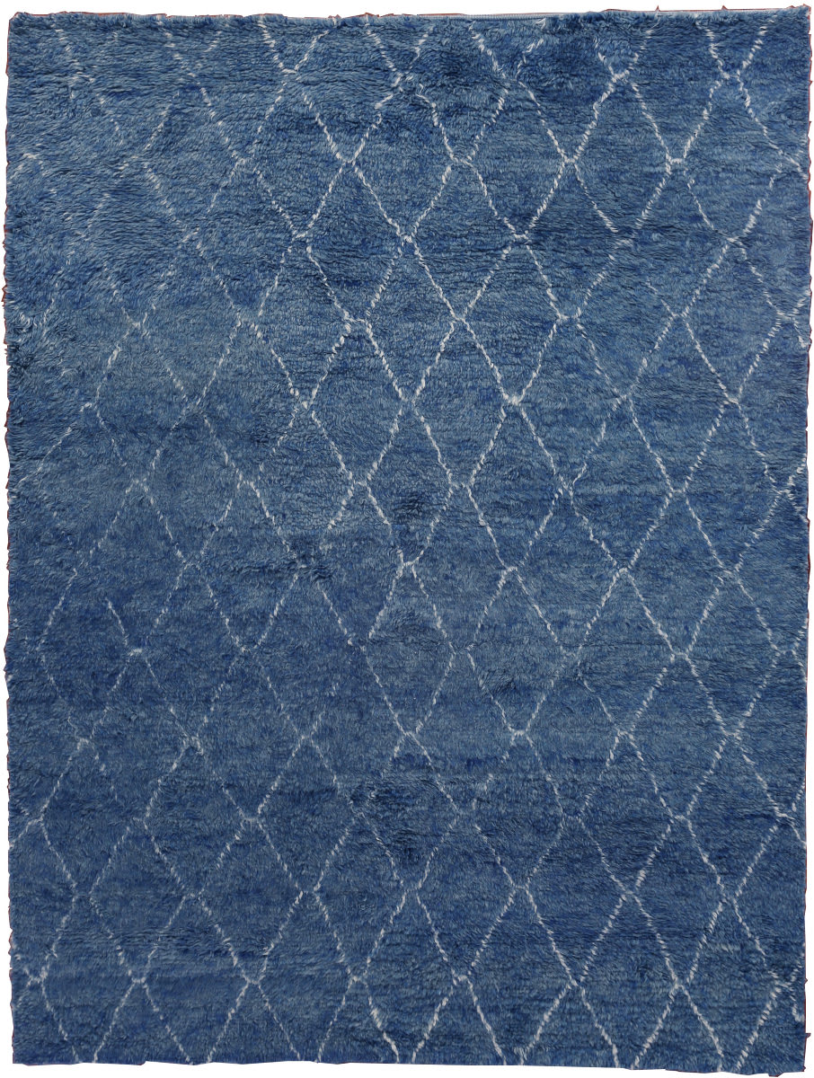 Exquisite Rugs Moroccan Hand Knotted 2243 Blue