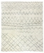 Exquisite Rugs Moroccan Hand Knotted 2561 Ivory - Charcoal