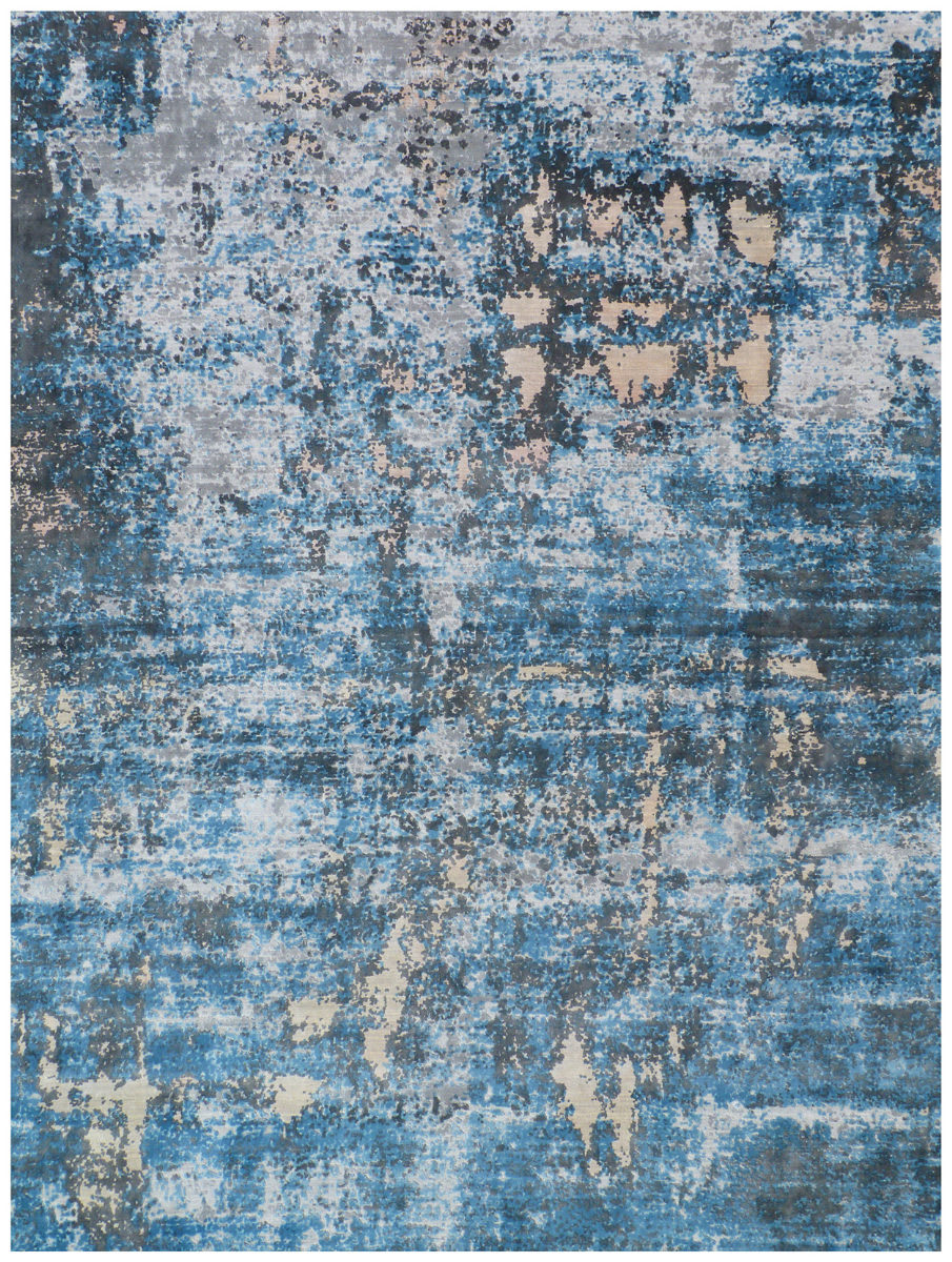 Exquisite Rugs Reflections Hand Woven Blue Area Rug - 191000