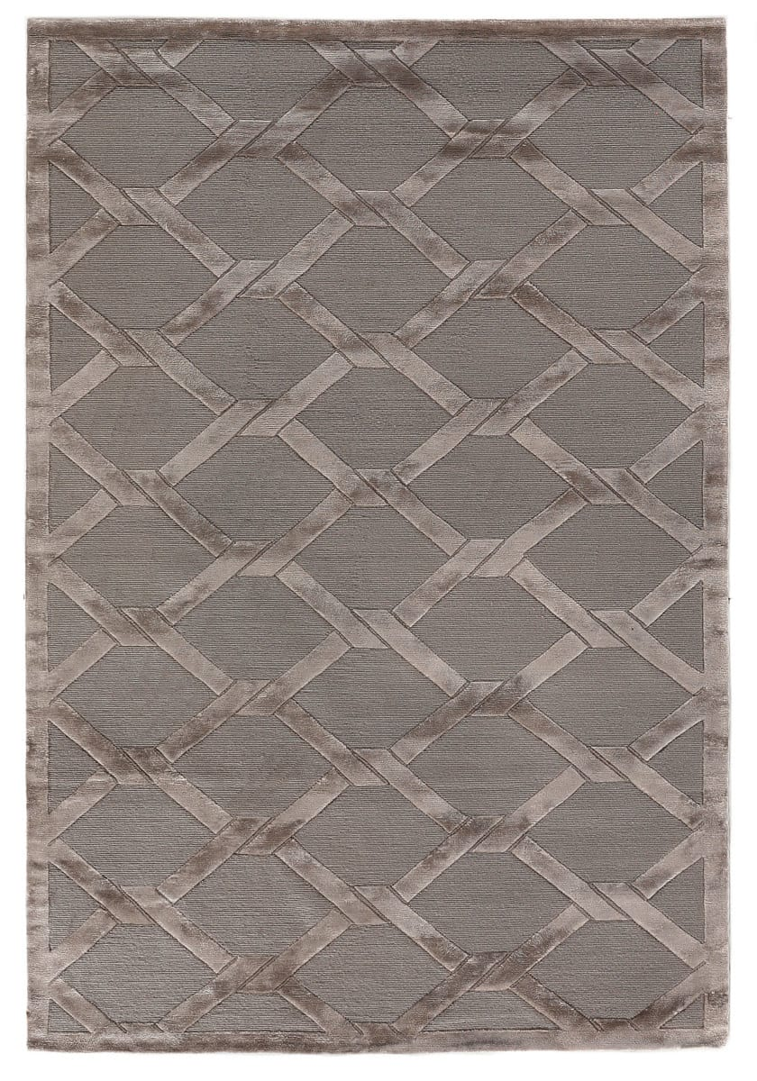 Exquisite Rugs Moreno Hand Knotted Dark Gray - Brown Area Rug - 190797