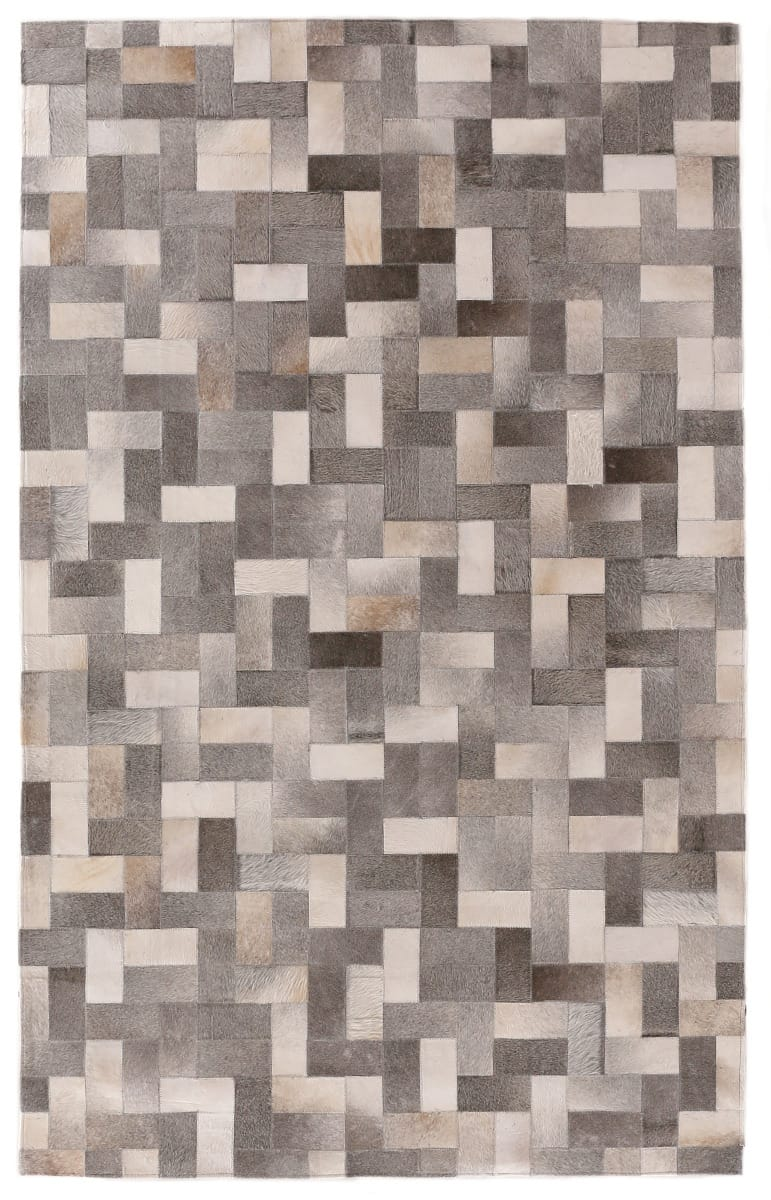 Exquisite Rugs Natural Hair on Hide Silver - Ivory