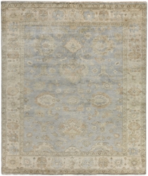 Exquisite Rugs Oushak Hand Knotted Gray - Ivory 190910 Area Rug