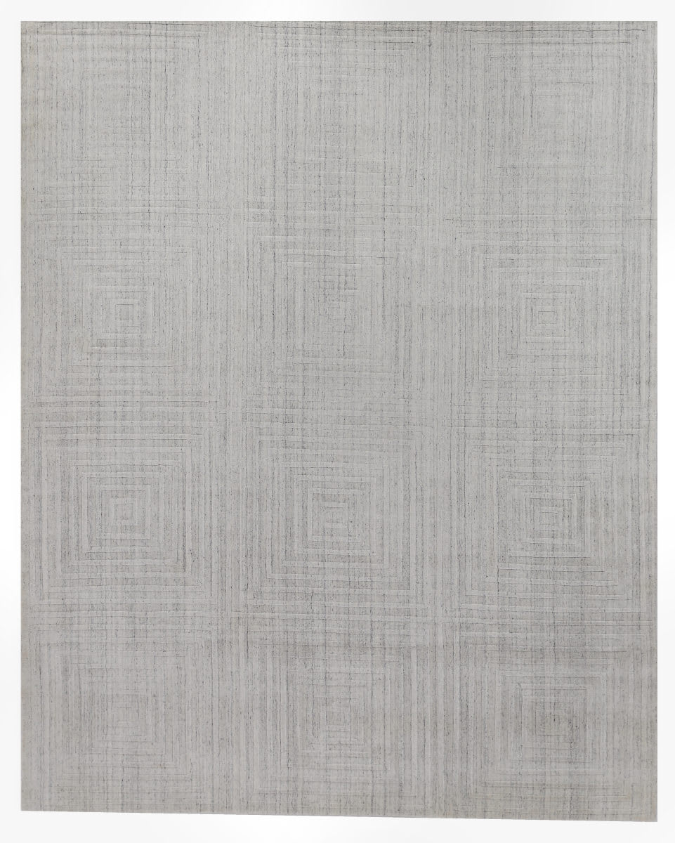Exquisite Rugs Robin Embossed Hand Woven White Area Rug - 191014