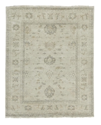 Exquisite Rugs Oushak Hand Knotted Ivory - Gray 190911 Area Rug
